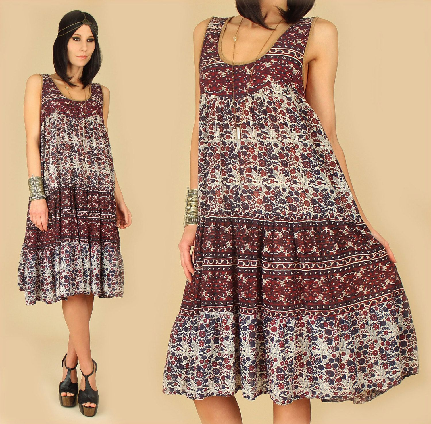 Want this vintage hippie dress so bad!