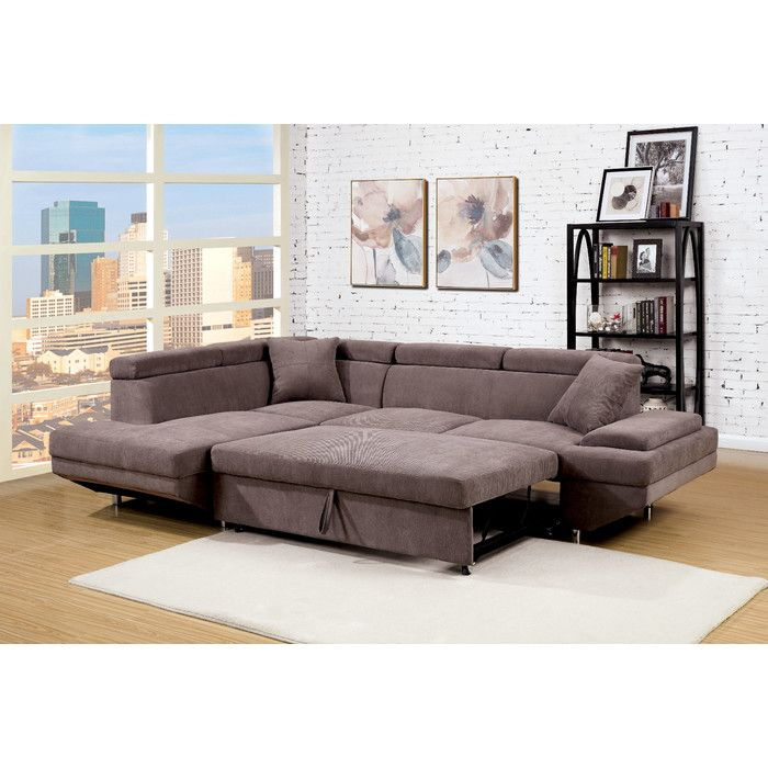 Wade Logan Sylvester Sleeper Sectional Reviews Wayfair Ca Sectional Sofa Couch Sectional Sofa With Chaise Furniture Of America