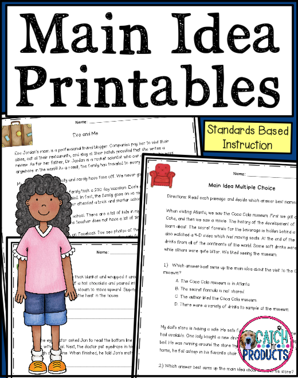 Main Idea Passages For Fourth Grade Worksheets