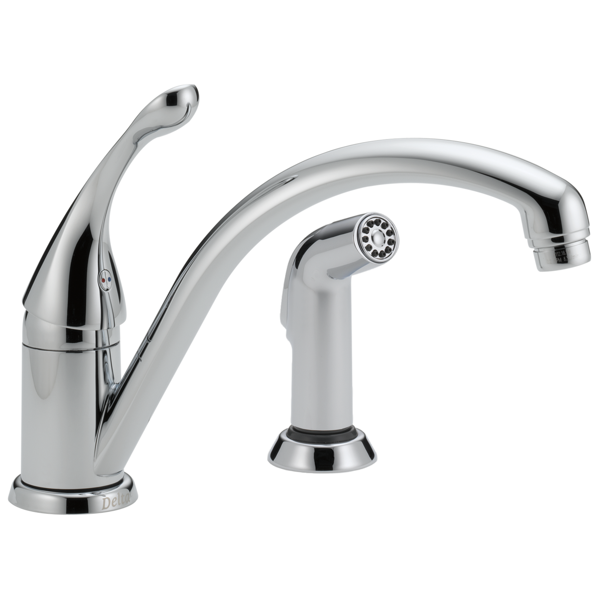Delta Faucet 441 Dst Single Handle Kitchen Faucet With Spray