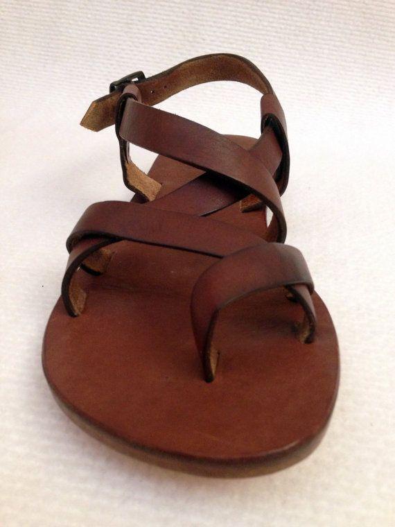 e2a405b8e BRAS  Cross Strap Buckle Adjustable Sandal Handmade leather sandals ...