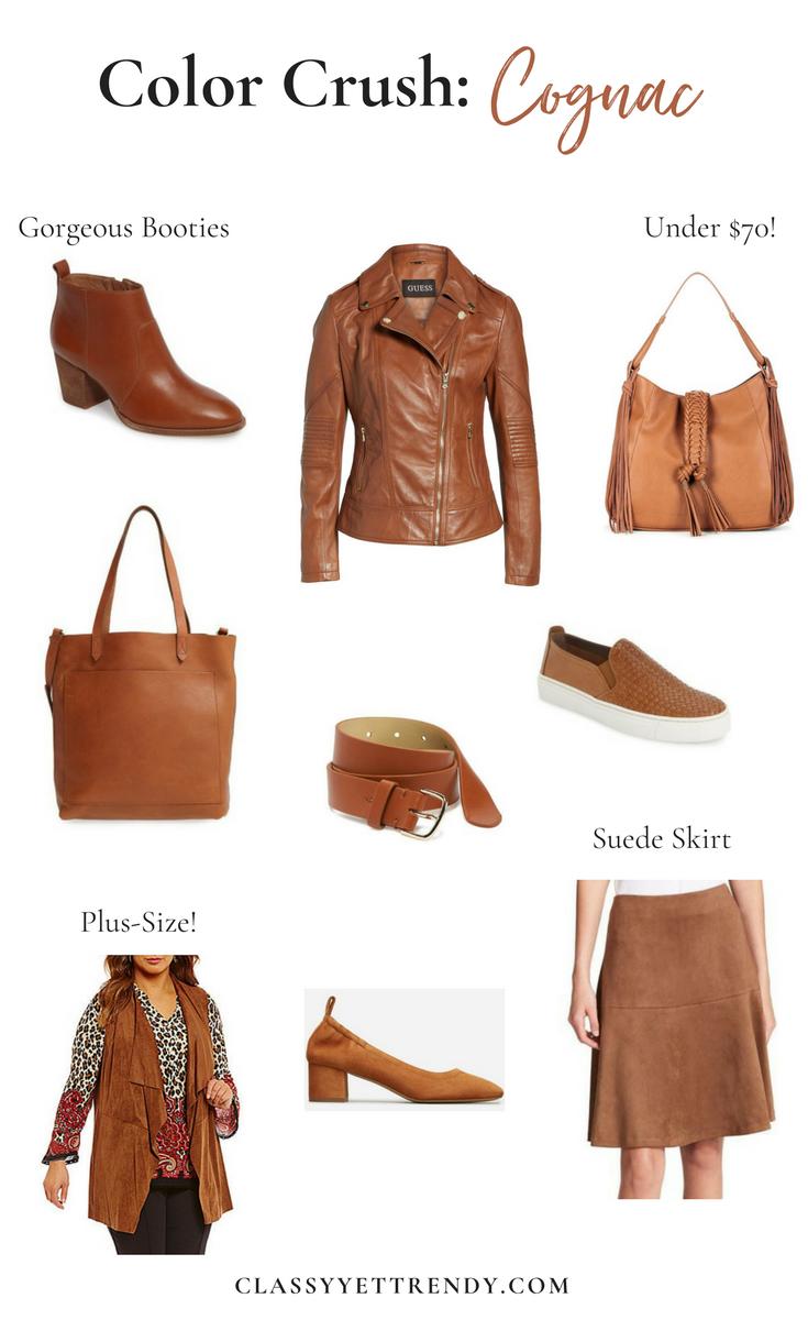 Color Crush Cognac Classy Yet Trendy Classy Yet Trendy Fashion Color Crush What color is cognac leather