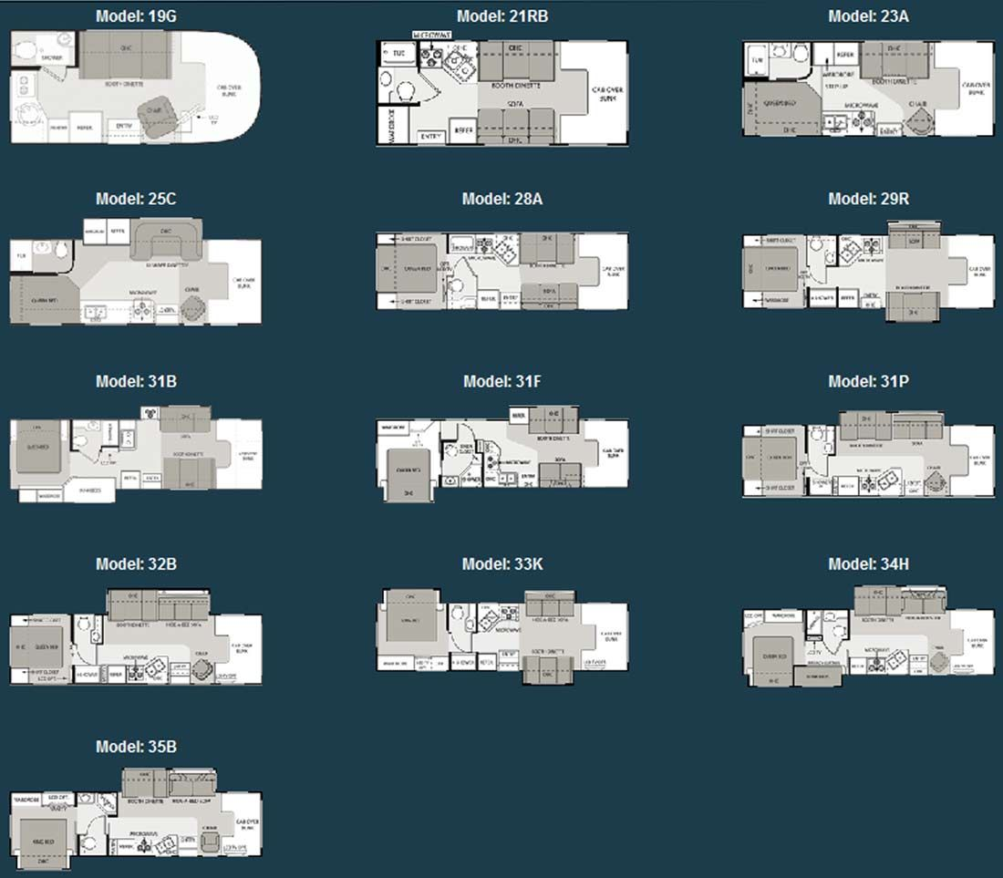Four Winds class C motorhome floorplans large picture RV