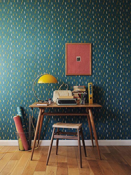 Papel pintado vintage para decorar habitaciones en tonos - Habitaciones con papel pintado ...