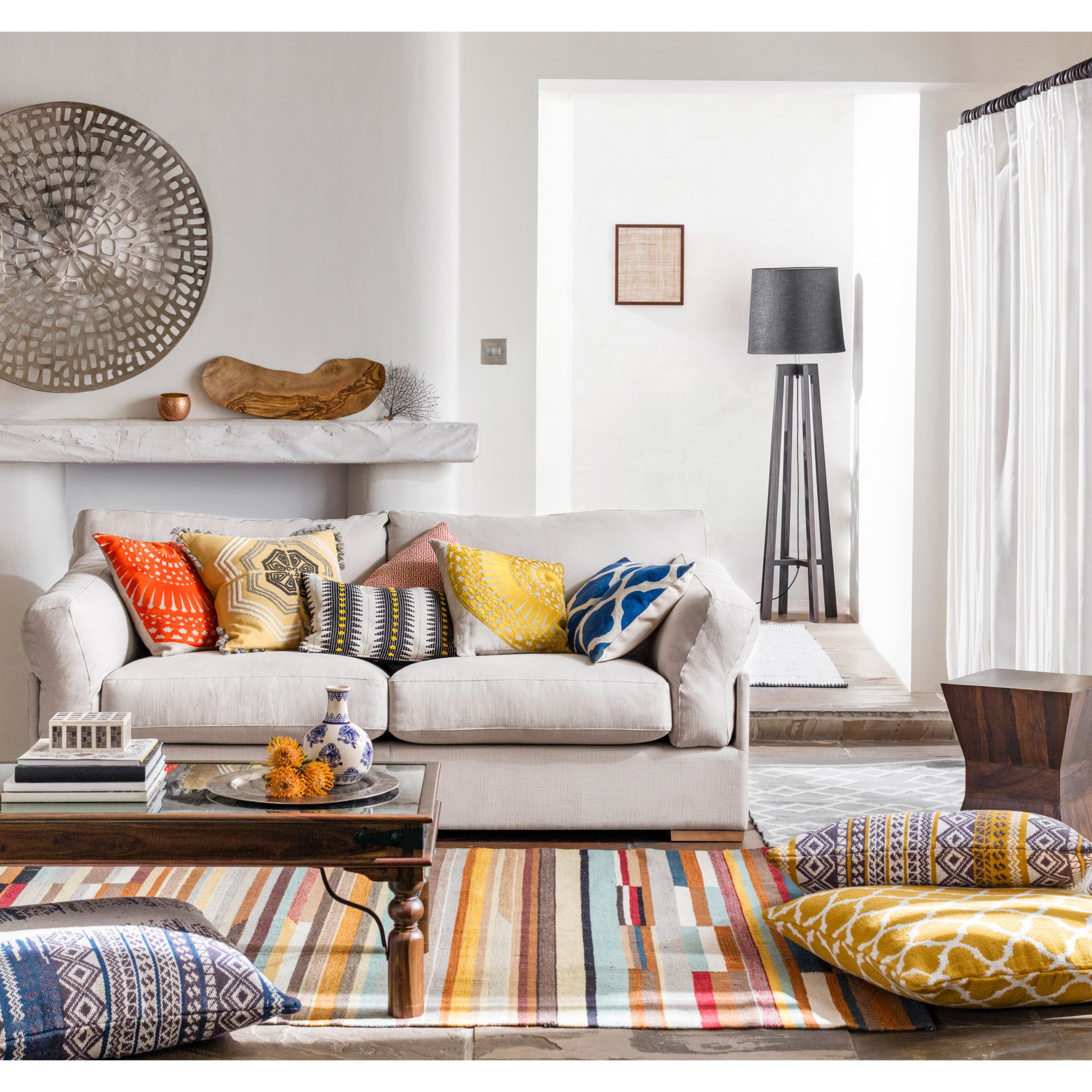 John Lewis Partners Java Medium 2 Seater Sofa Indian Living Room Indian Living Rooms Floor Cushions Johnlewis living room ideas