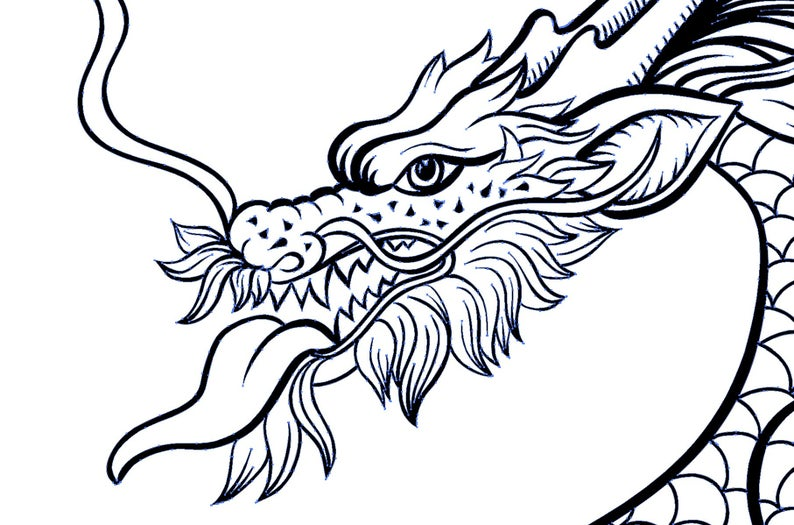 Chinese Dragon Svg Chinese Dragon Vector Dragon Tattoo Etsy In 2021 Dragon Illustration Dragon Silhouette Chinese Dragon