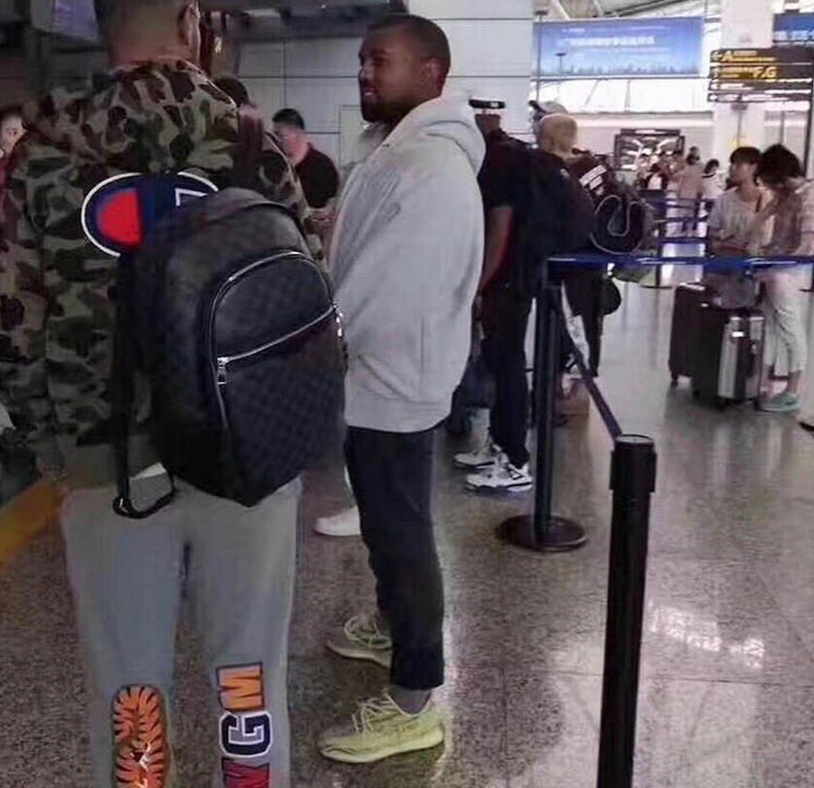Kanye West Spotted Wearing The adidas Yeezy Boost 350 V2 Semi Frozen Yellow + Detailed Images ...
