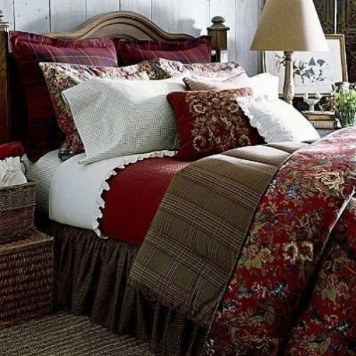 Ralph lauren pristine summerton king comforter 2 king for King shams on queen bed