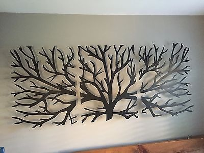Wall Decor 3d new sculpture wall art 3d metal decor modern black wooden stained