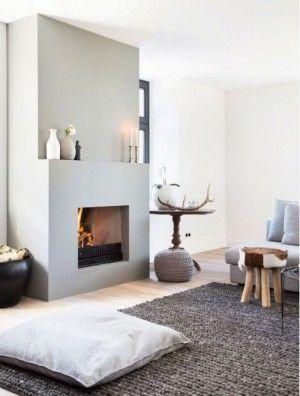 Traumhaftes Wohnzimmer Mit Kamin Und Grossen Teppich Sehr Gemtliche Einrichtung