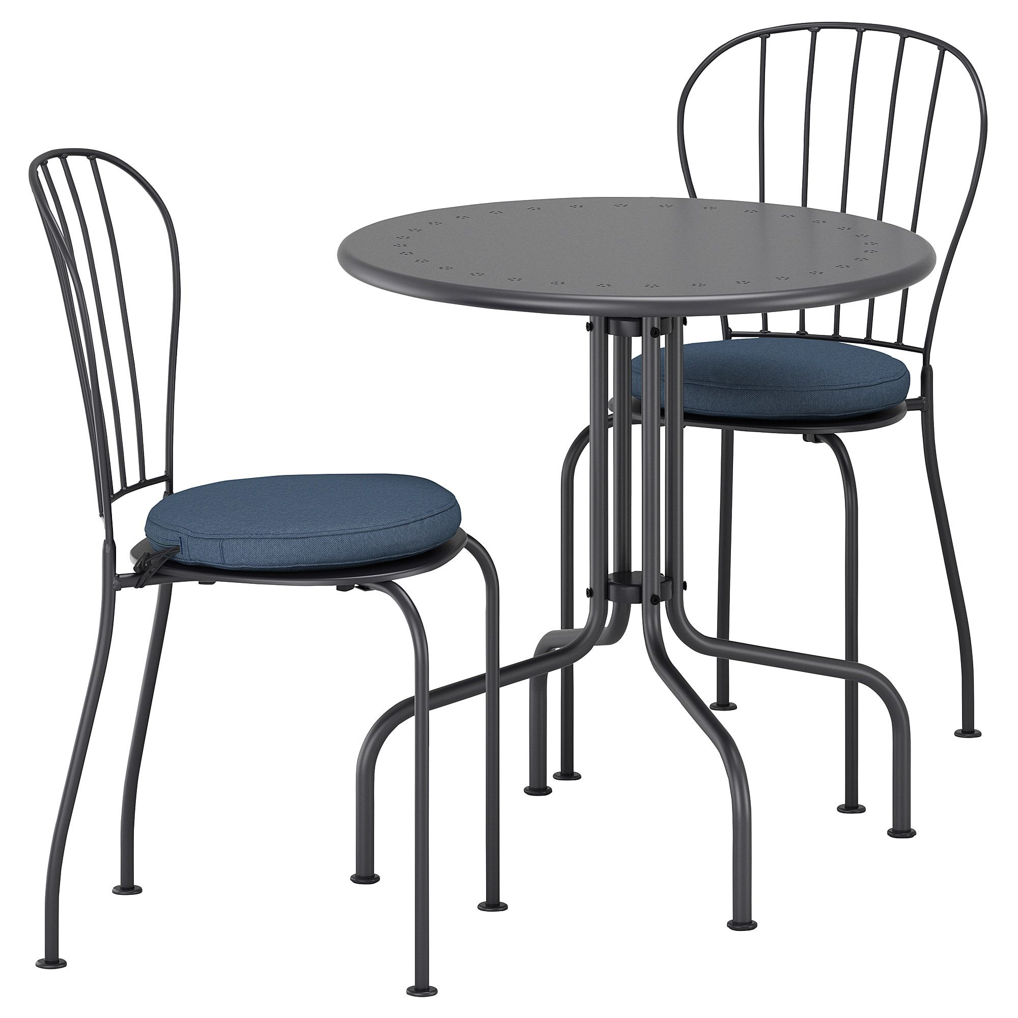 Lacko Tisch 2 Stuhle Aussen Grau Froson Duvholmen Blau
