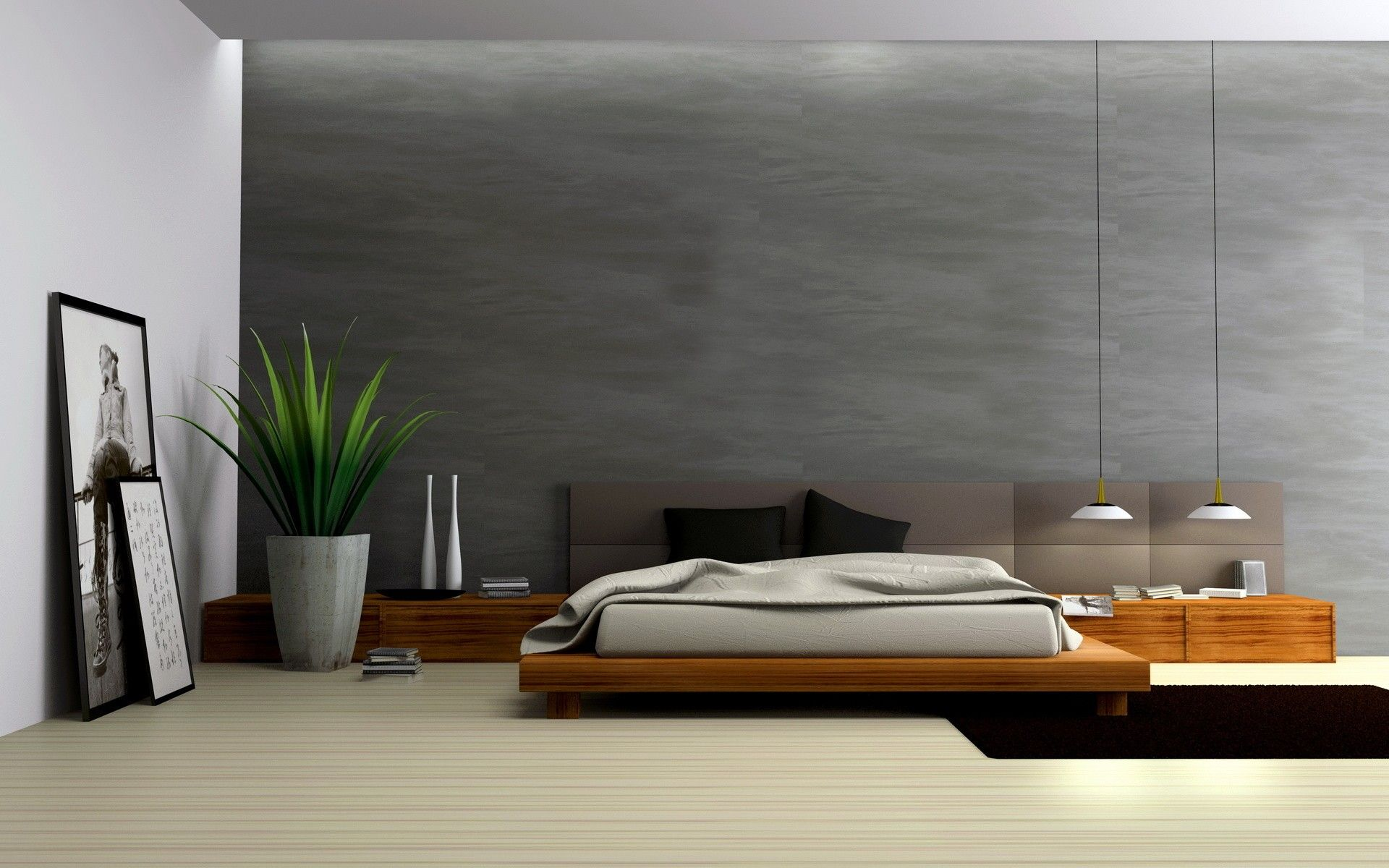 architecture room interior bedroom 1920x1200 wallpaper - Architecture Bedroom Designs