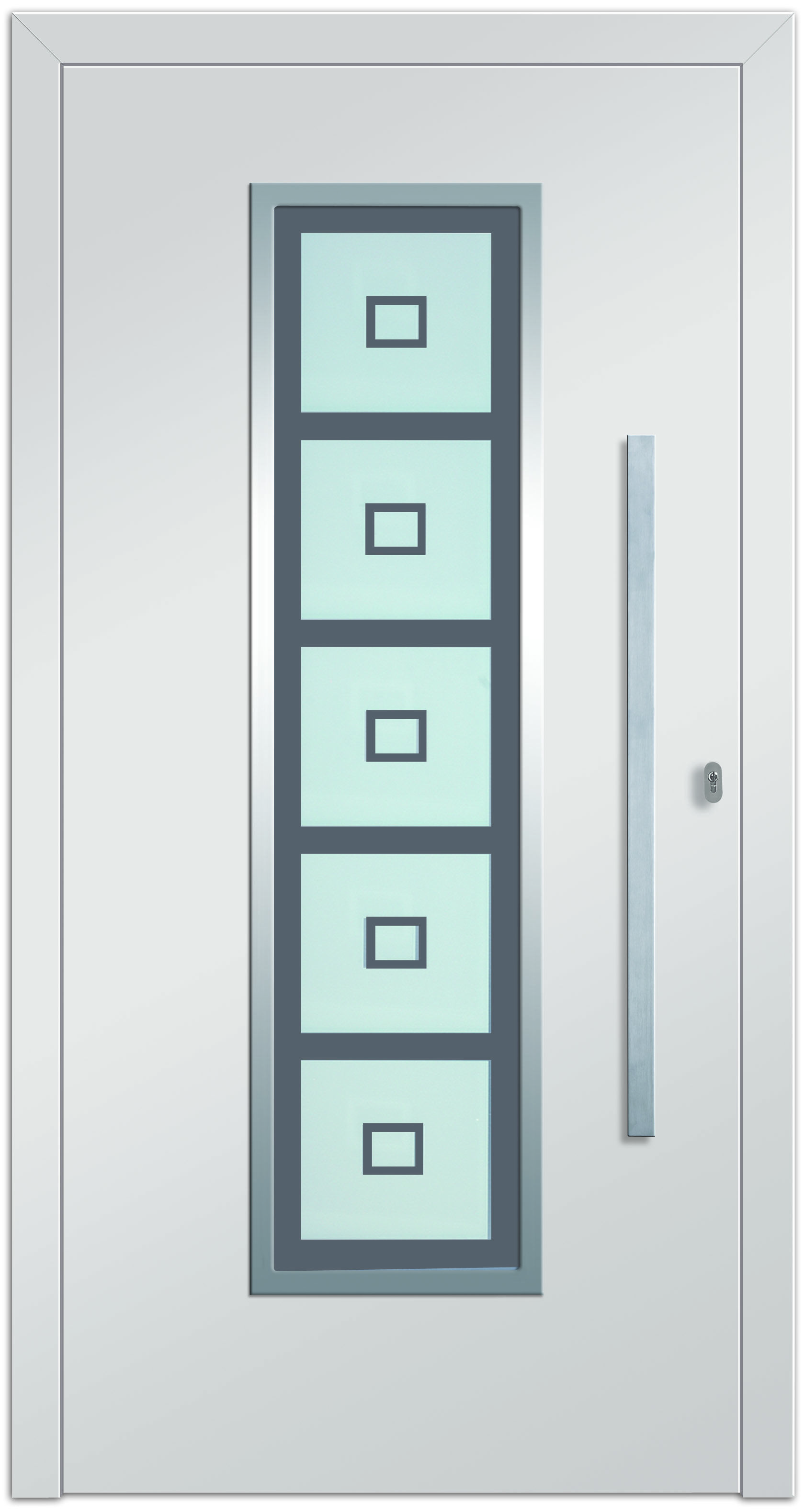 Alasco 2 Aluminium-Eingangstüre in weiß - Aussenansicht! Erhätlich bei Fenster-Schmidinger aus Gramastetten in Oberösterreich!  #doors #türen #alutüren