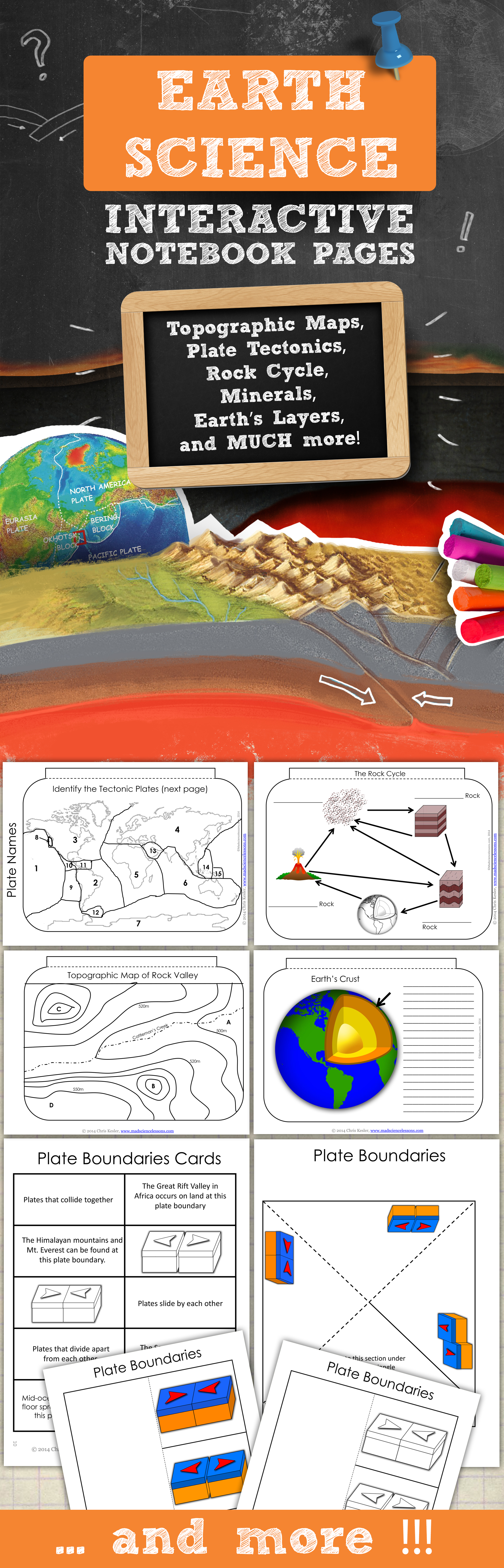 Earth Science Interactive Notebook Pages Print Digital Versions Interactive Science Notebook Earth Science Interactive Notebooks