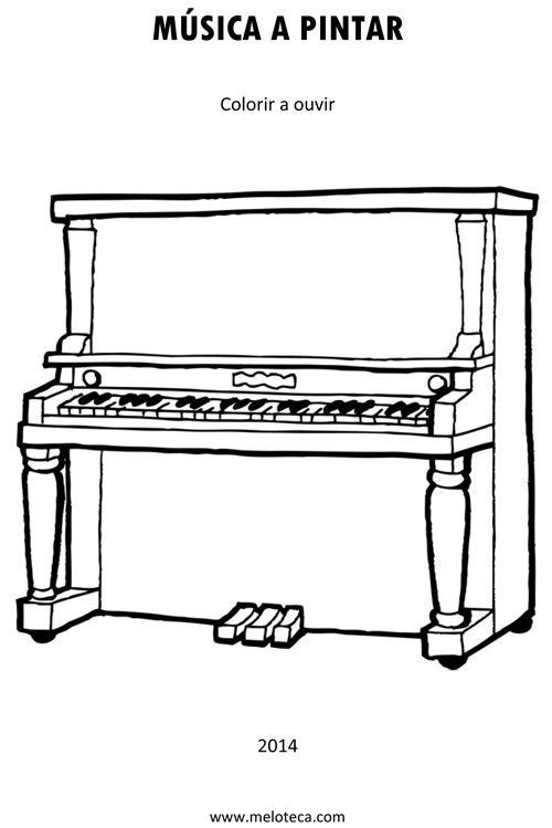Musica A Pintar The Piano Exercicio De Musica Figuras Musicais