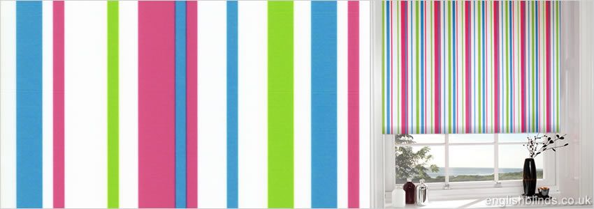 Wonderful Colourful Striped Roller Blinds