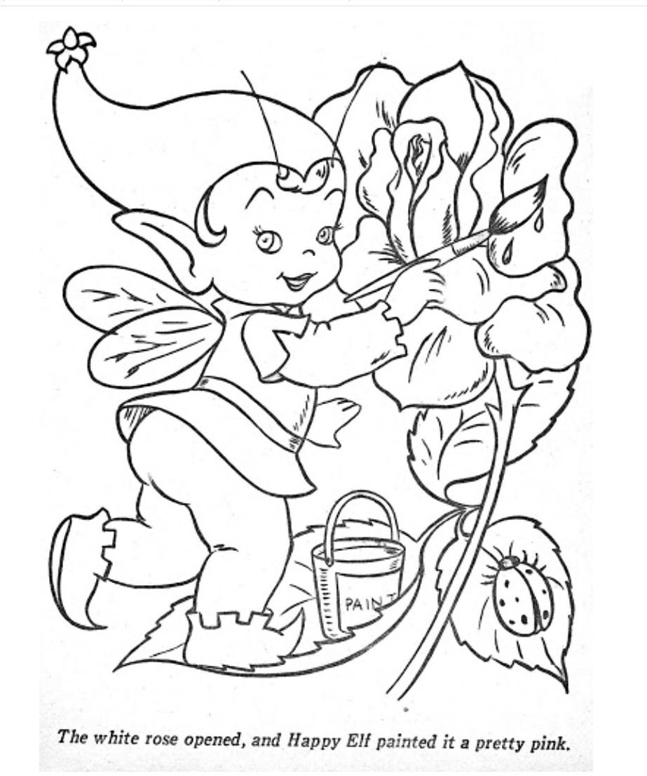 From The Happy Elf Coloring Book | Do you color? | Pinterest ...