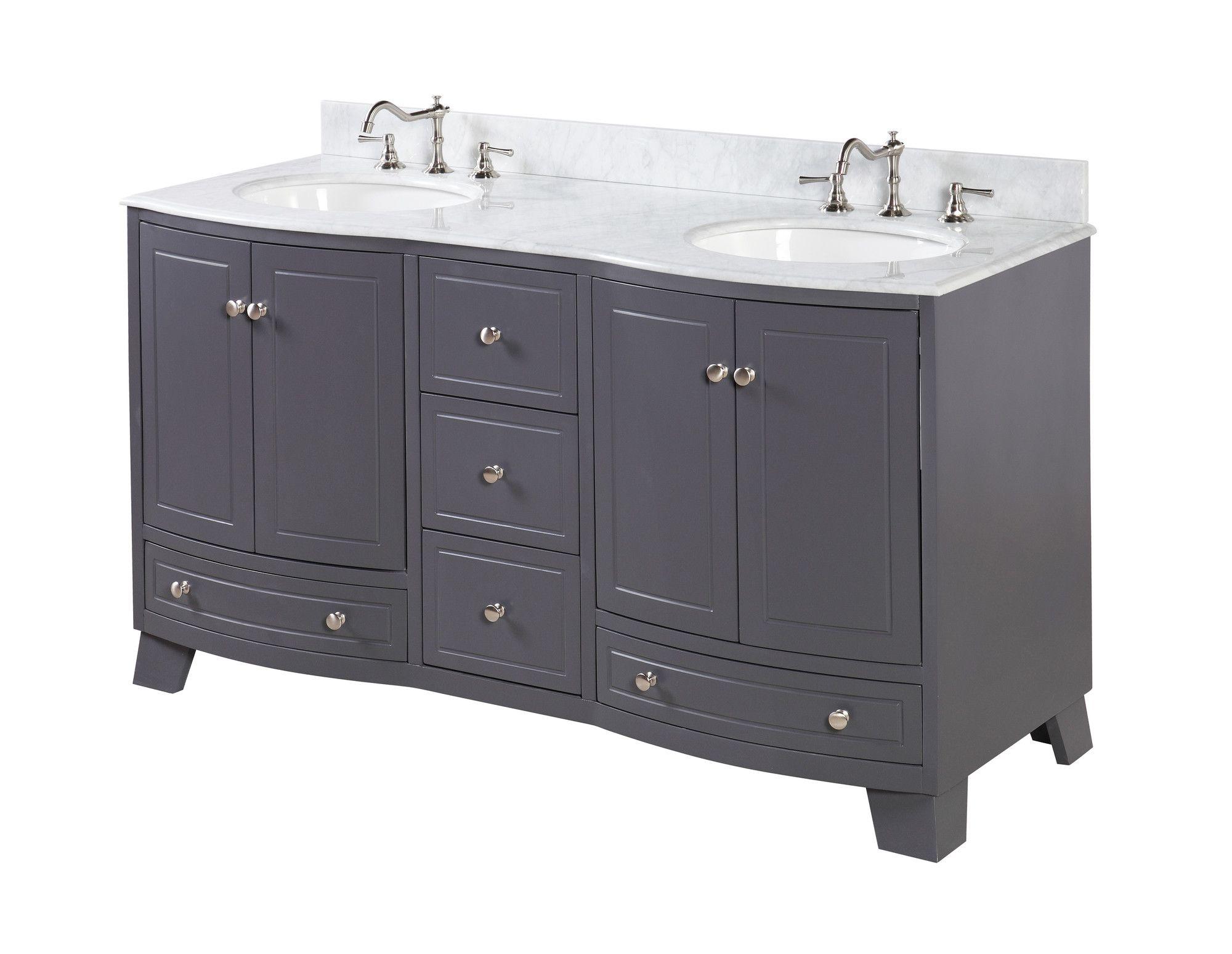 Palazzo 60 Double Bathroom Vanity Set Double Vanity Bathroom Vanity Bathroom Vanity