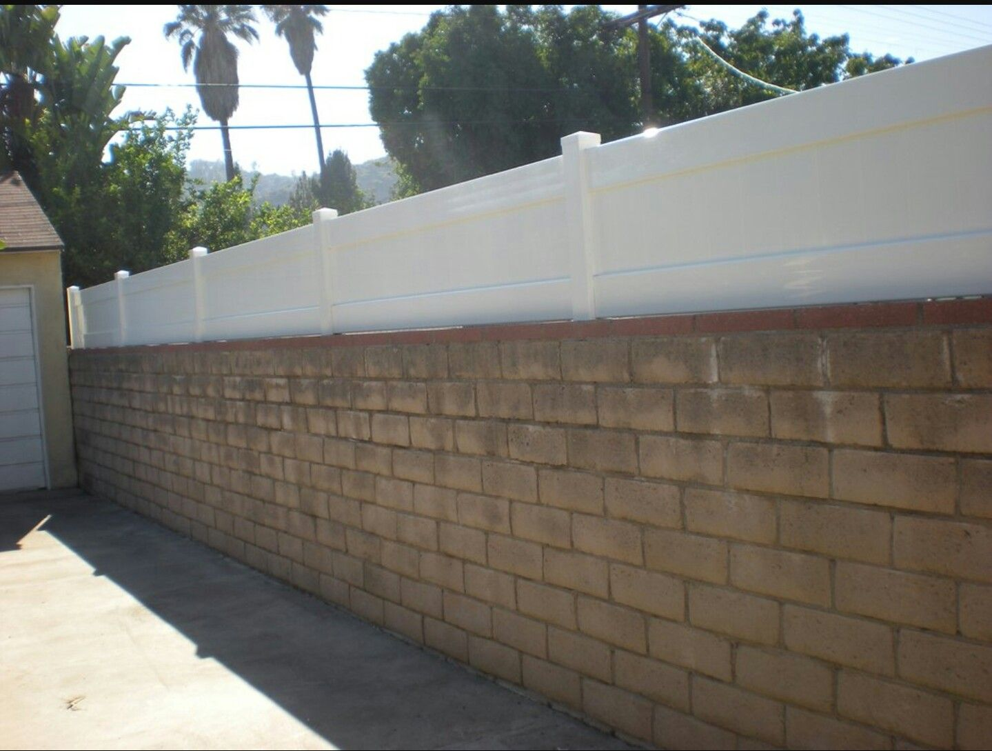Block Wall Fence Toppers Block Wall Fence Pinterest Block - Cinder block wall fence ideas