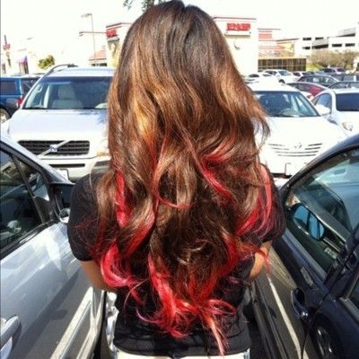 Auburn Red Ombre Hair The Beauty Thesis Dip Dye Hair Red Ombre Hair Dyed Red Hair