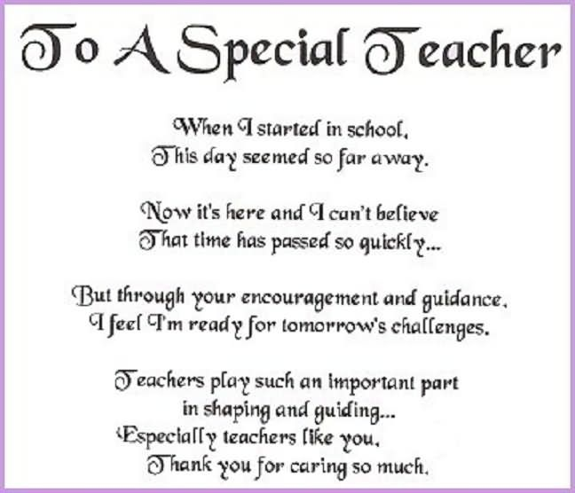 A Tribute To Teachers Poem Images Google Search Special