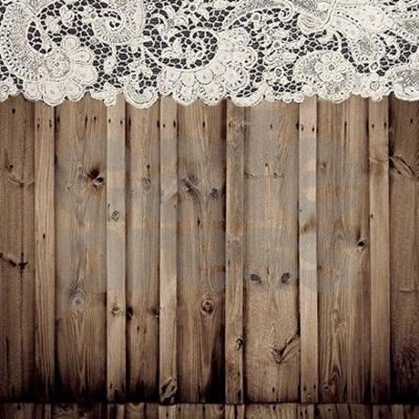 Barnwood White Lace Country Shower Curtain By Cranberrysky