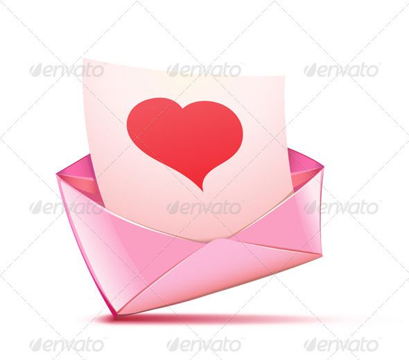 Pink Envelope Graphicriver Vector Illustration Of Open Pink