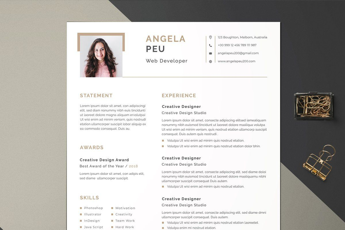 Word Resume/CV in 2020 Best resume template, Cover