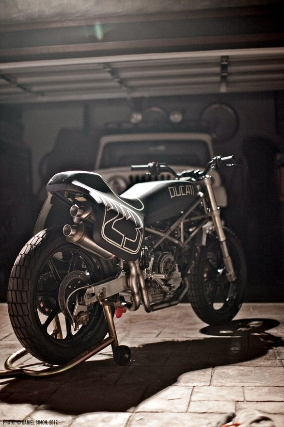 Ducati Monster based Street Tracker. Taking an already awesome bike and making it simply unique.