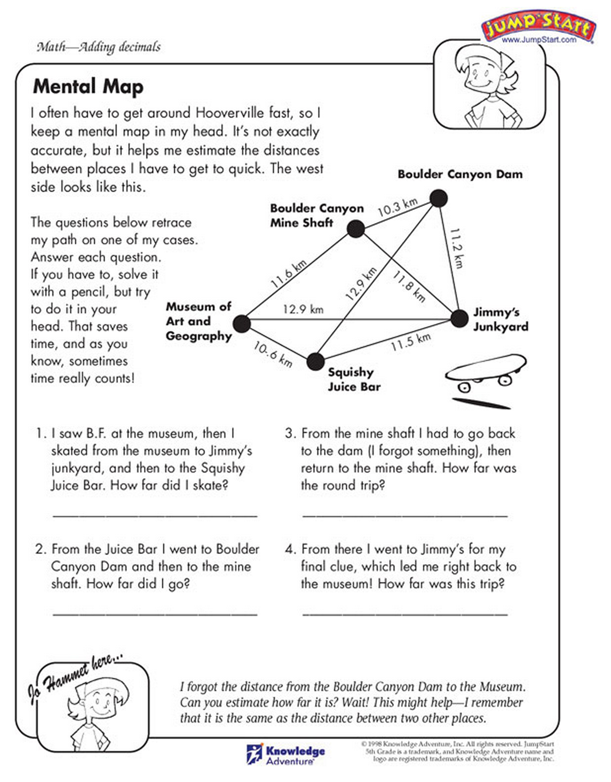 The Decimal Math Practice Sheet Read The Story To Solve The Math Problems Mental Maths Worksheets Math Worksheets Mental Math [ 1582 x 1236 Pixel ]