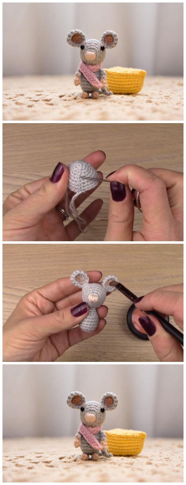 Amigurumi Crochet Mouse - Learn to Crochet #amigurumicrochet