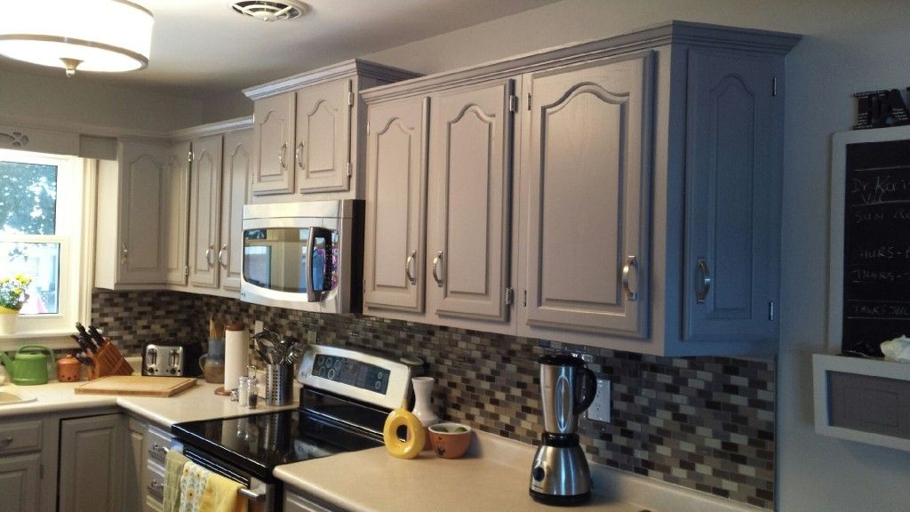 Image Result For White Painted Cathedral Oak Cabinets