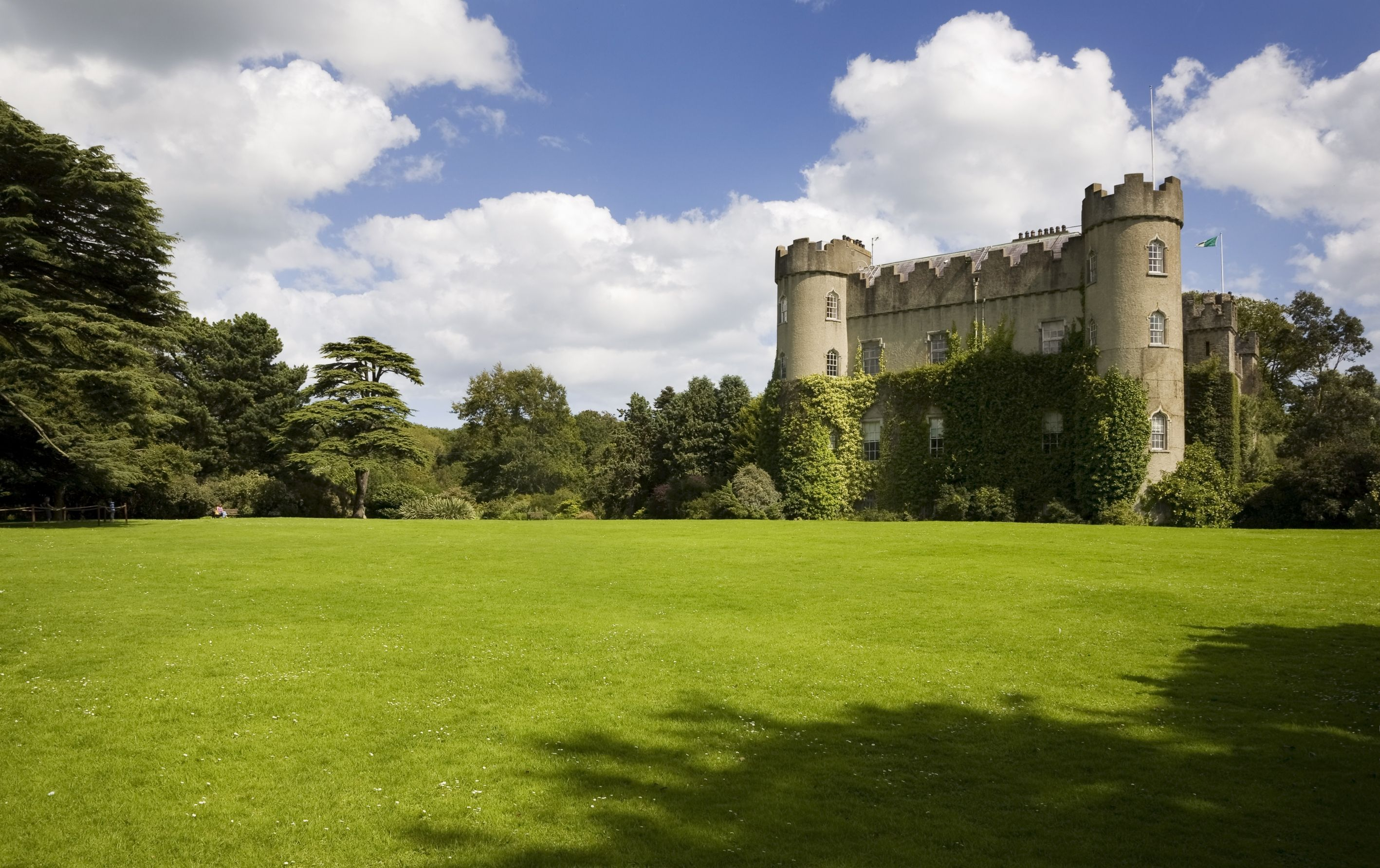 Malahide Castle, was both a fortress and a private home for nearly 800 years and has an interesting mix of architectural styles!