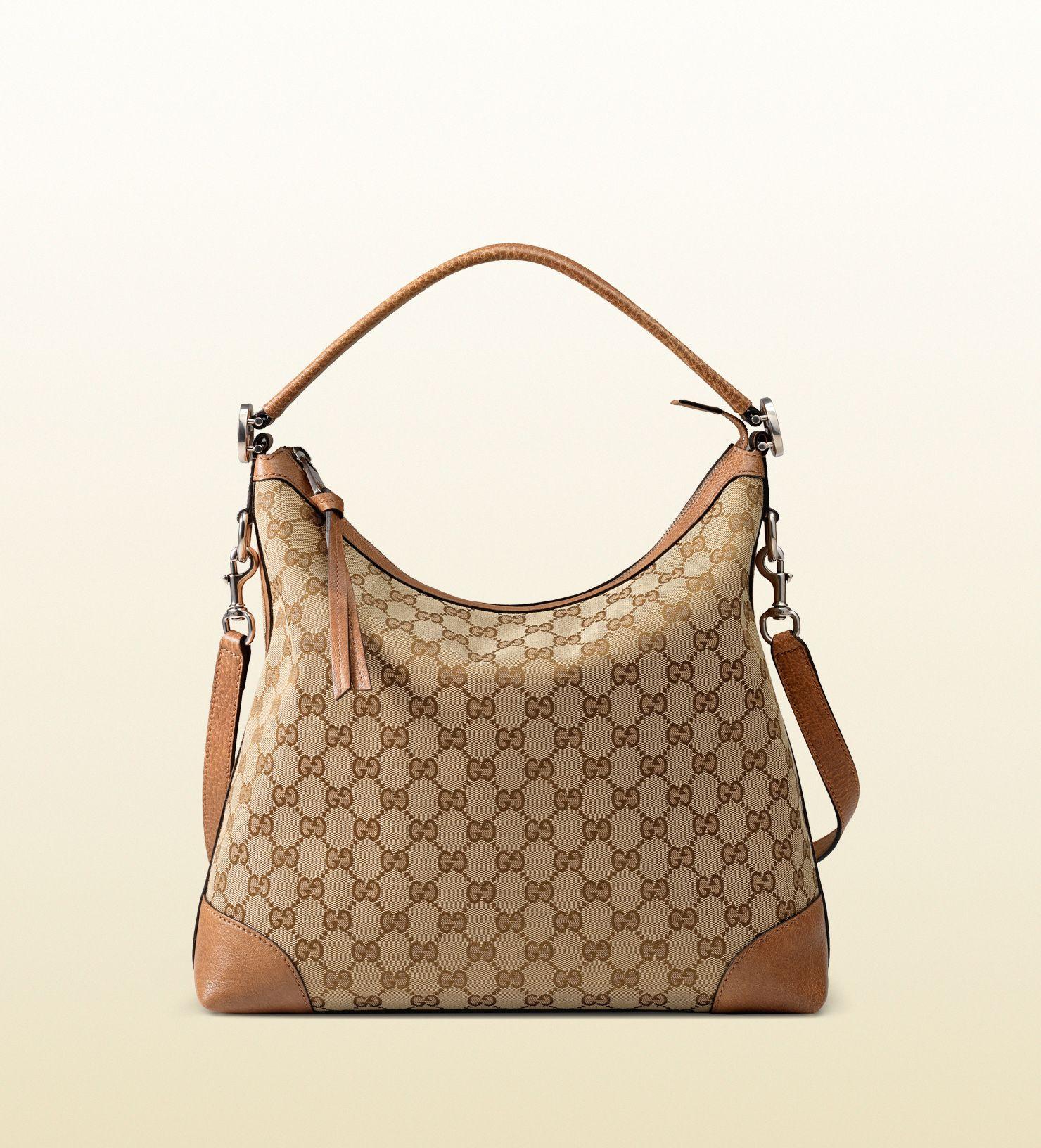 c5e5d71ffa miss GG original GG canvas hobo Canvas Handbags, Brown Leather Purses,  Brown Purses,