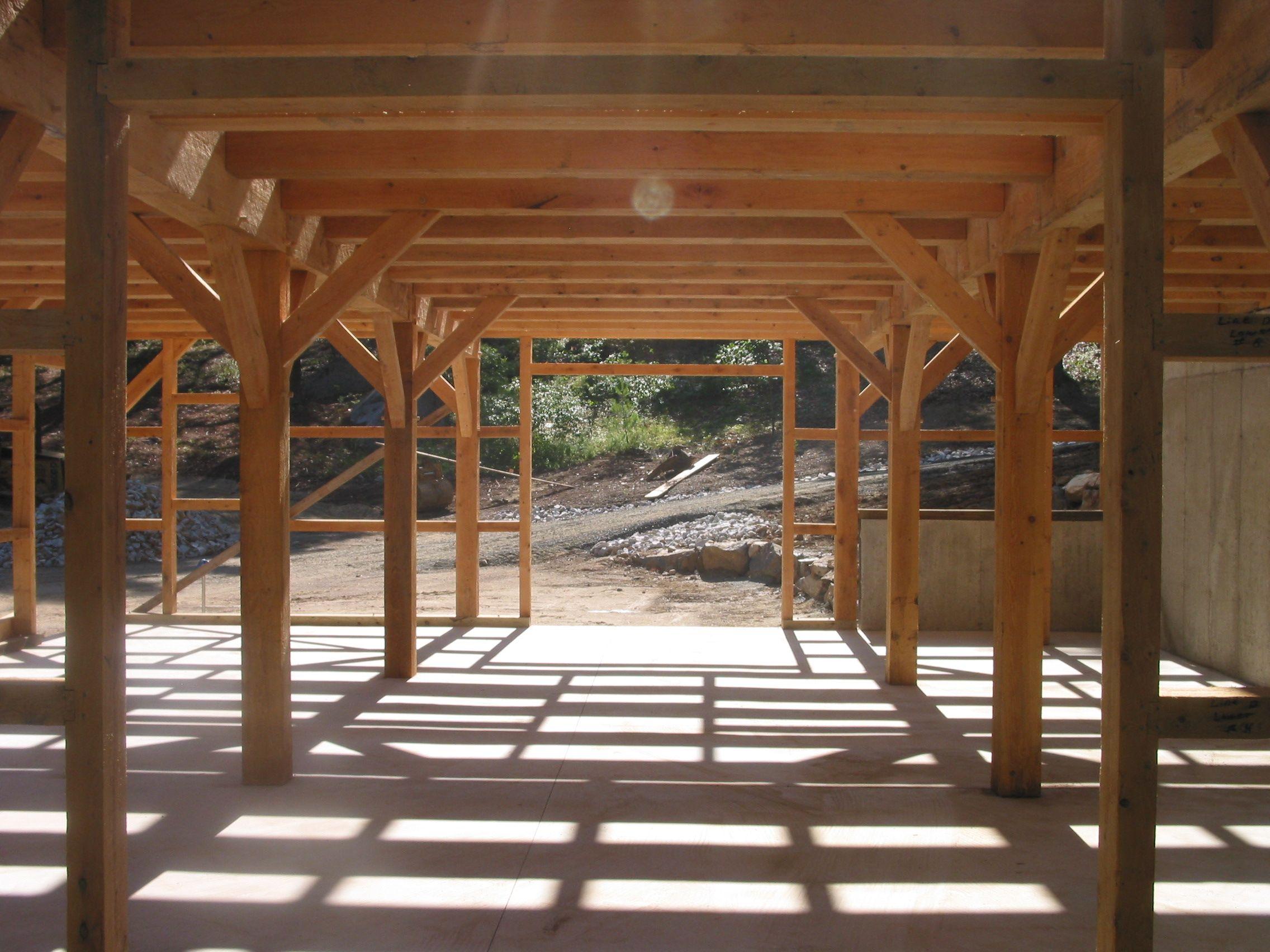 Pole barn interior design homes barns wiedie barn timber for Pole barn garage interior ideas