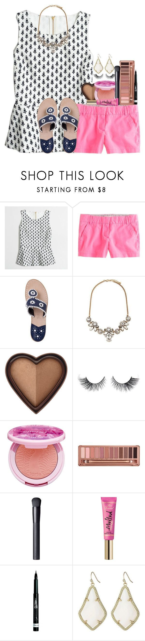 bid day in the polyvore sorority by thefashionbyem  liked on Polyvore featuring JCrew Jack Rogers Forever 21 Too Faced Cosmetics tarte Urba  My Polyvore Finds