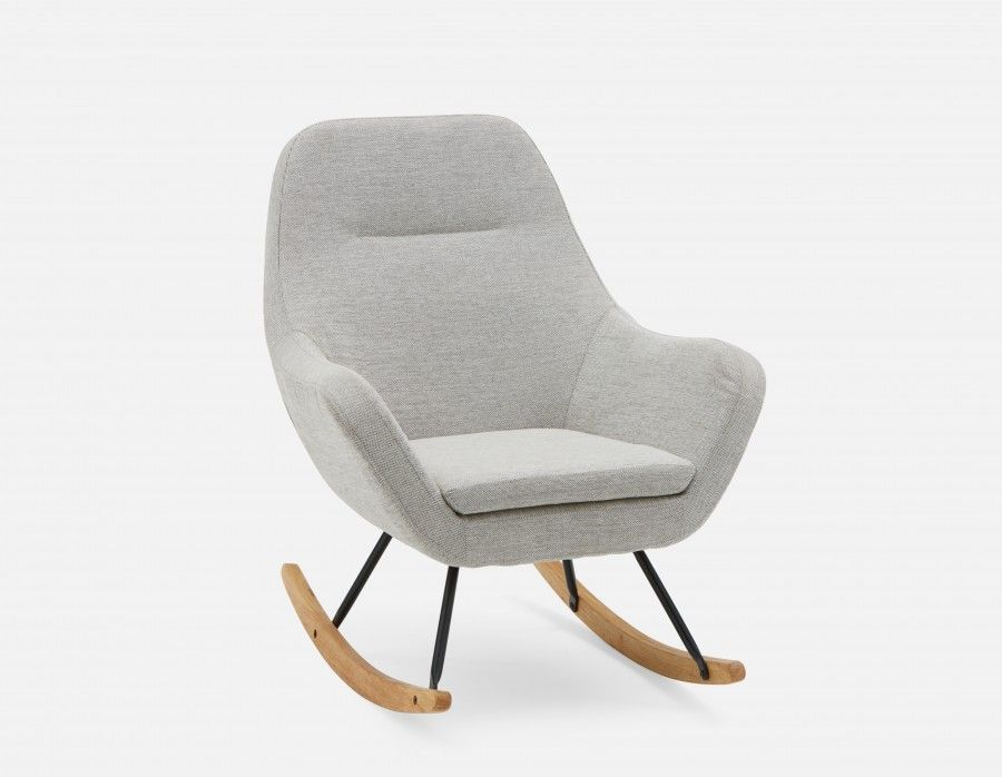 LILA   Rocking Armchair   Light Grey