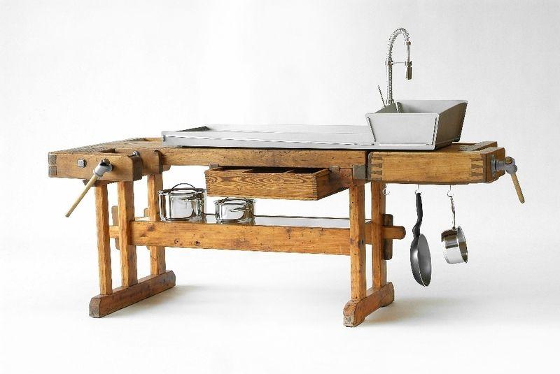 Outdoor Küche Aus Hobelbank : Weiteres küche studio k zeitgereift ein designerstück von