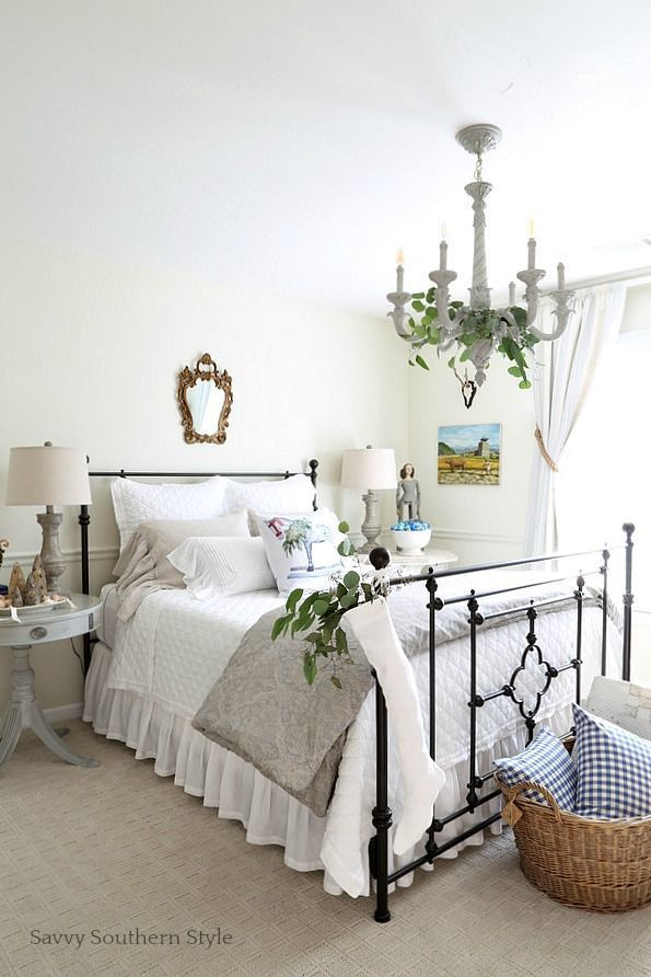 Savvy Southern Style: French Country Christmas Guest Bedroom   Home on shabby chic bedroom ideas, farmhouse kitchen decorating ideas, pinterest french country kitchen decor,