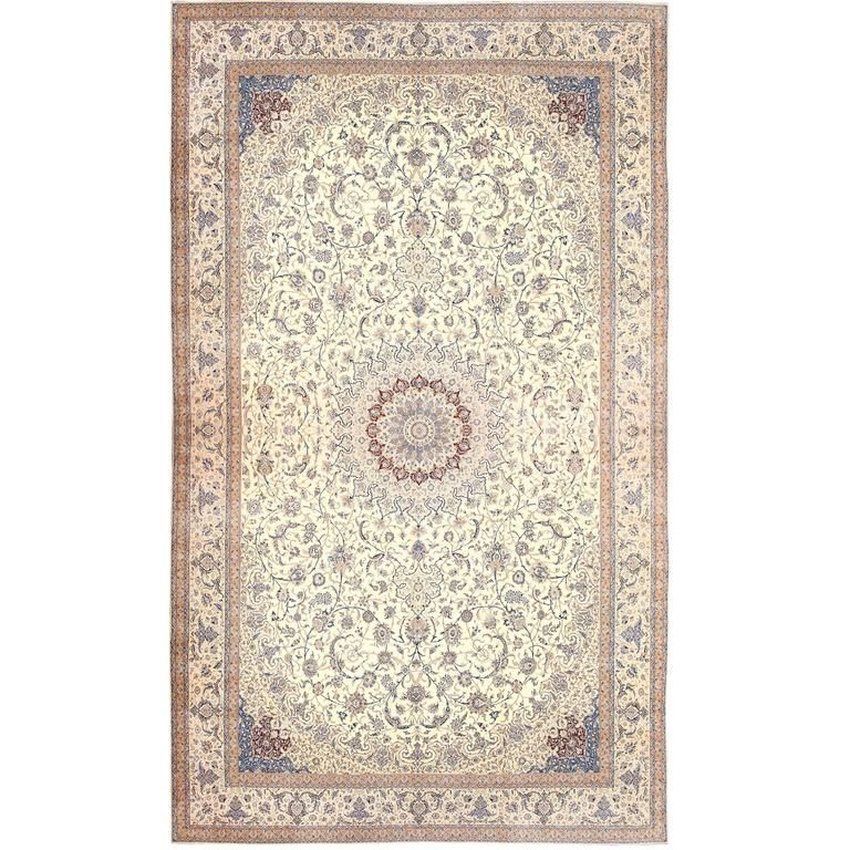 Artistic Stairs Canada: Palace Size Fine Silk And Wool Persian Nain Carpet In 2019