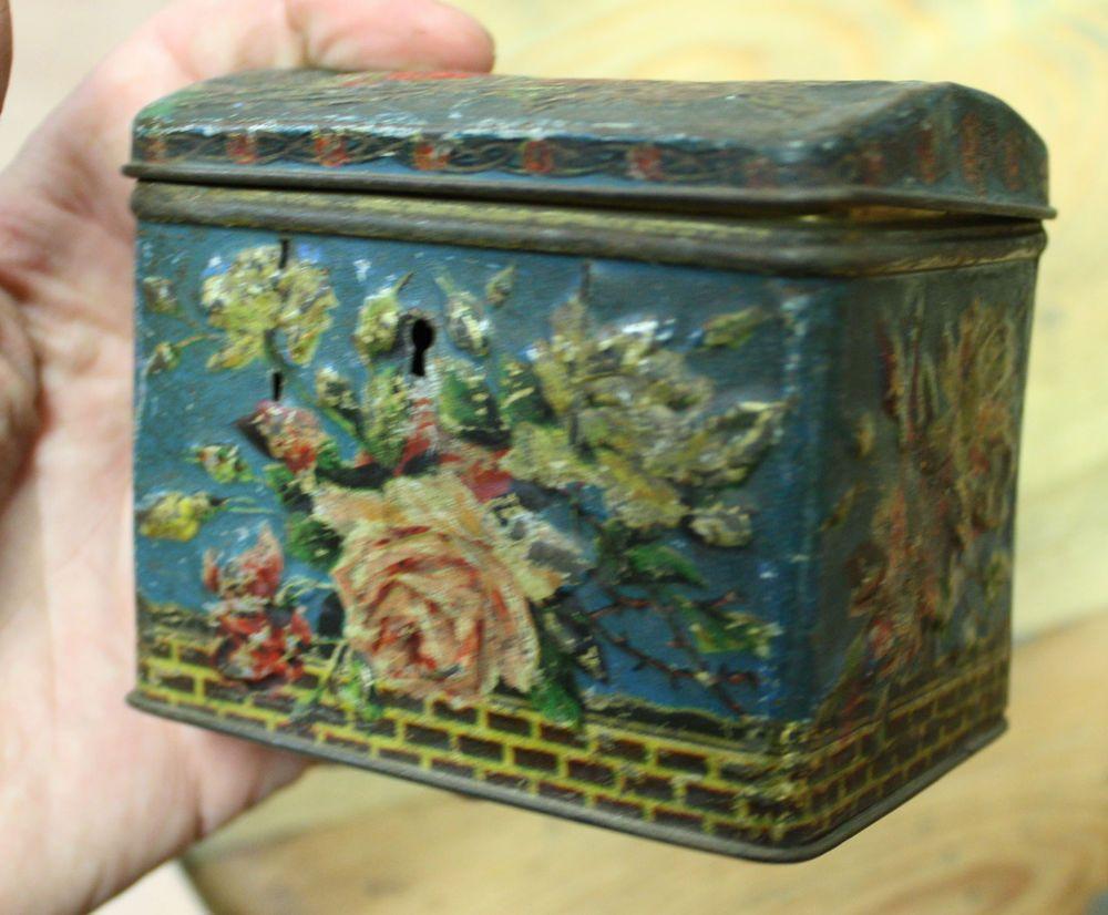 Imperial Russian Antique Tea Tin Box Russian Tea Metal Art Novueau | eBay