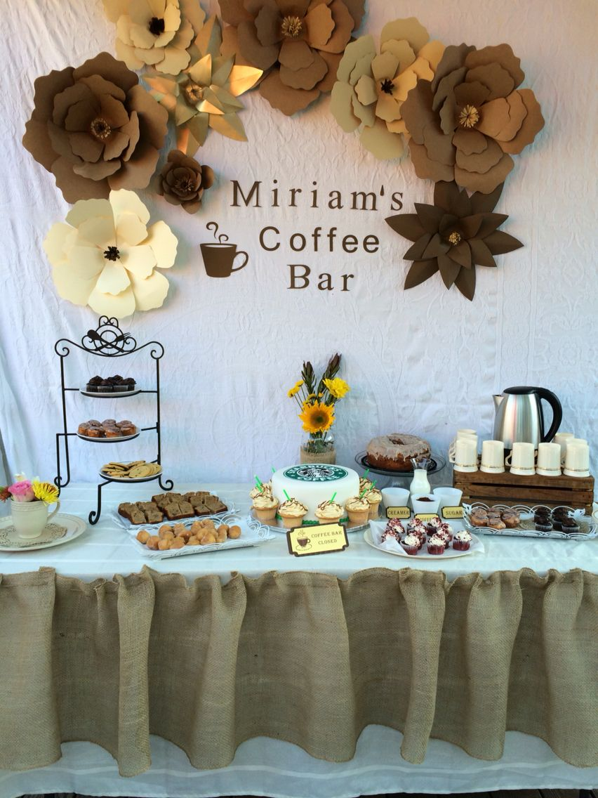 Coffee Bar Theme Party