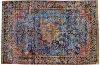 "Vintage Overdyed Rug - 37559 | London House Rugs  11'6"" X 7'8"""