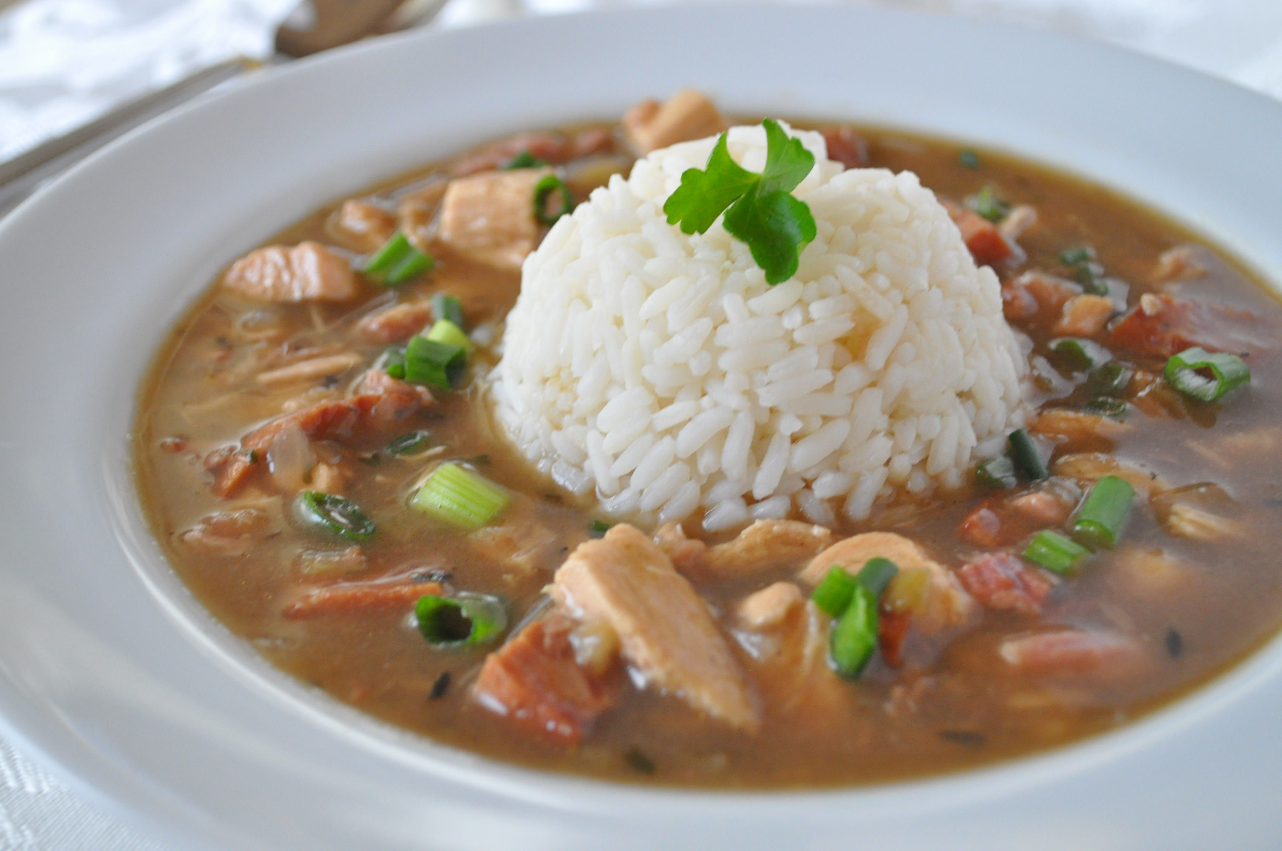 Chicken Gumbo With Andouille Sausage Recipe Sausage Gumbo Chicken Gumbo Best Gumbo Recipe