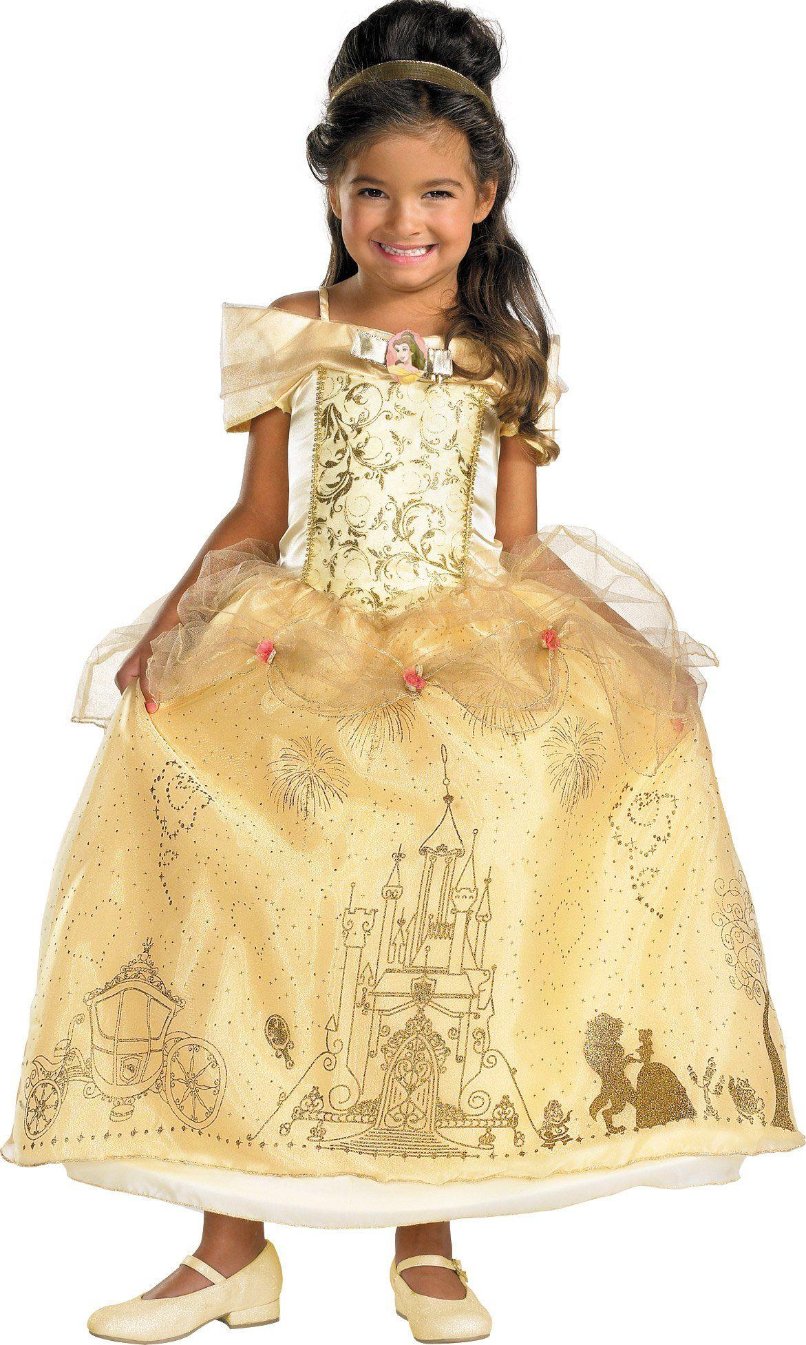 Disney Storybook Belle Prestige Toddler / Child Costume | Toddler ...