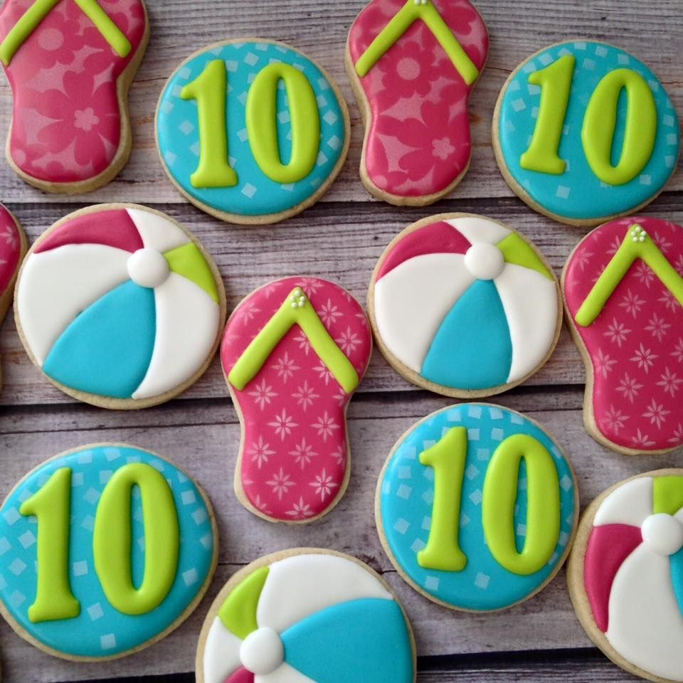 10th Birthday Pool Party! - Flying Squirrel Cookies