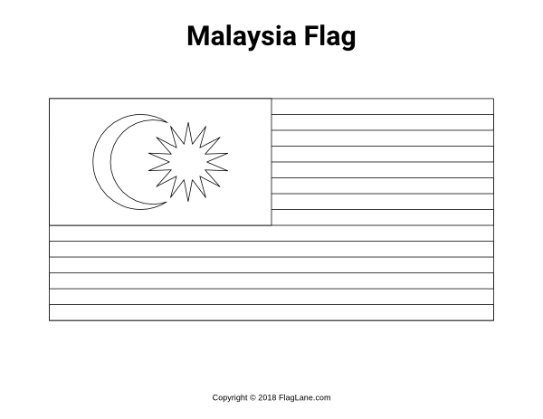 Free Printable Malaysia Flag Coloring Page. Download It At  Https://flaglane.com/coloring-page/malaysian-flag/ Malaysia Flag, Flag  Coloring Pages, Flag Printable