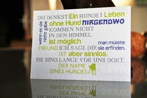 """Design-Postkarte """"Hundephilosophie"""" http://www.hundenarren.com/de/Fuer-Zweibeiner/Kleinkram-im-Hundedesign/Design-Postkarte-Hundephilosophie"""