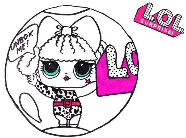 Diva Lol Surprise Coloring Sheet For Girls Pretty Sweet Lol