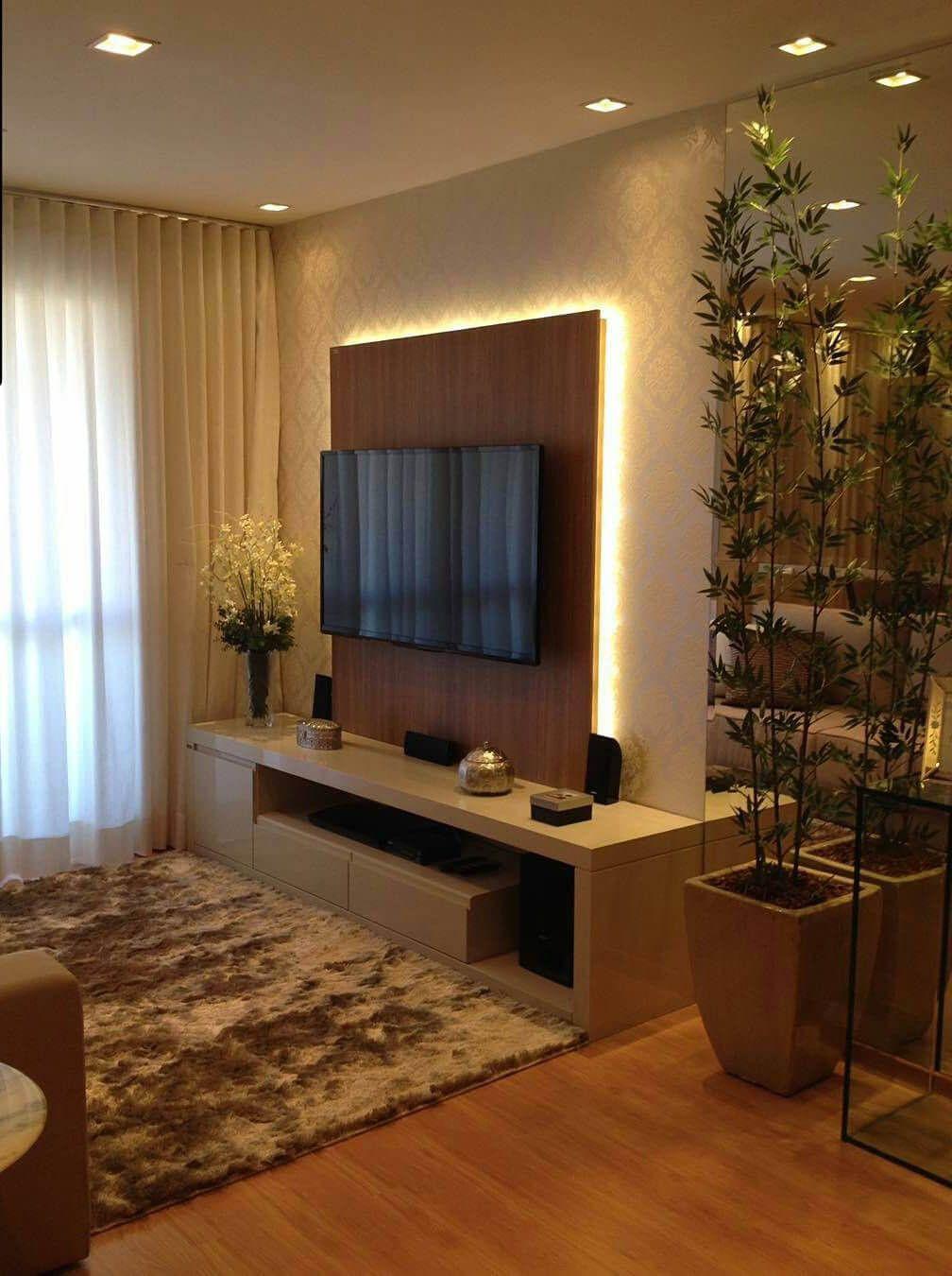Popular Interior Design For Tv Showcase: Unique Mount For The TV Stand